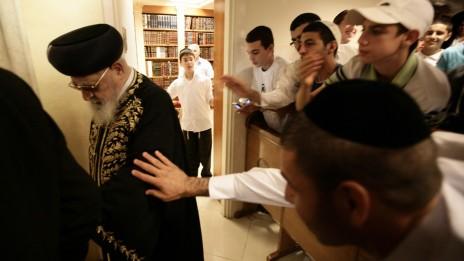 הרב עובדיה יוסף, 13.9.2009 (צילום: אביר סולטן)