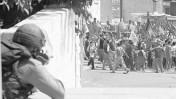 המשטרה היא המקור, המפגינים הם האויב: המהומות בנצרת, אוקטובר 2000 (צילום: ירון קמינסקי)