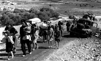 פליטים ערבים ב-1948 (צלם לא ידוע)