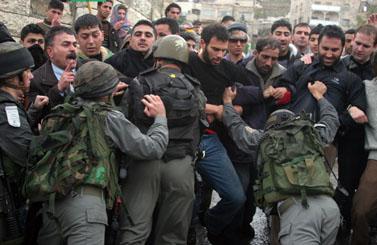 מהומות בחברון, אתמול (צילום: פלאש 90)