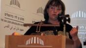 """רותי סיני במכון ון-ליר, יוני 2008 (צילום: """"העין השביעית"""")"""