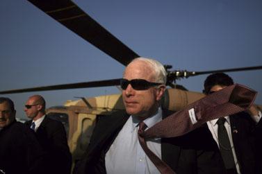 המועמד לנשיאות ארצות-הברית, ג'ון מקיין (צילום: אוריאל סיני)