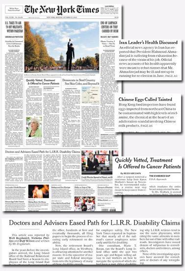 """שער ה""""ניו-יורק טיימס"""" שבוע לפני הבחירות בארצות-הברית"""