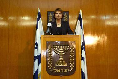 """יו""""ר הכנסת דליה איציק, בכנסת (צילום: אוליביה פיטוסי)"""