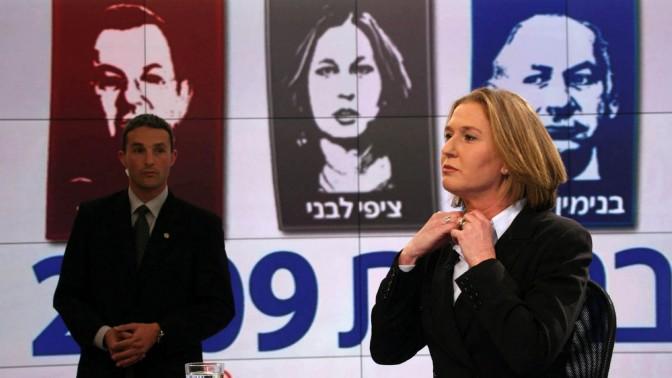 ציפי לבני באולפן חדשות ערוץ 2, 31.1.09 (צילום: גיל יוחנן)