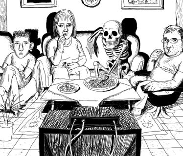"""איור של דוד פולונסקי לגיליון 38 של """"העין השביעית"""", מאי 2002"""