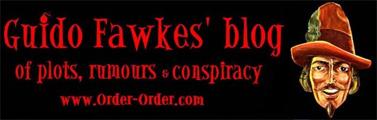 """""""הבלוג של גואידו פוקס, על אודות עלילות, שמועות ומזימות"""" (לוגו האתר)"""