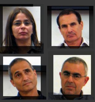 מבין המשתתפים בכנס (משמאל למעלה בכיוון השעון): דורלי אלמגור, יון פדר, עודד דגני, שלמה לירן (צילום: העין השביעית)