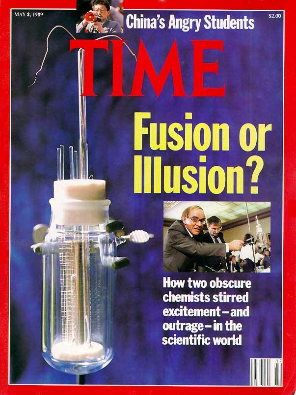 """""""היתוך קר או אשליה?"""", שער המגזין """"טיים"""", 8.5.1989"""
