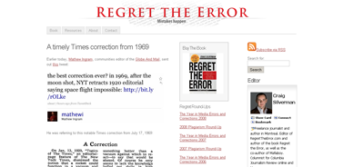 A timely Times correction from 1969  Regret the Error