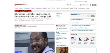 Al-Jazeera journalist imprisoned in Guantánamo Bay to sue George Bush  Media  guardian.co.uk