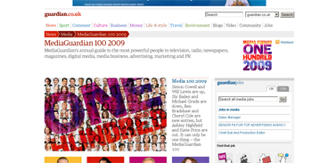MediaGuardian 100 2009  Media  guardian.co.uk