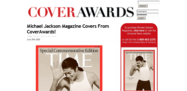Michael Jackson Magazine Covers from CoverAwards!  CoverAwards