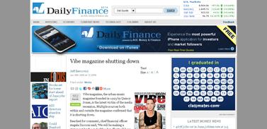 Vibe magazine shutting down