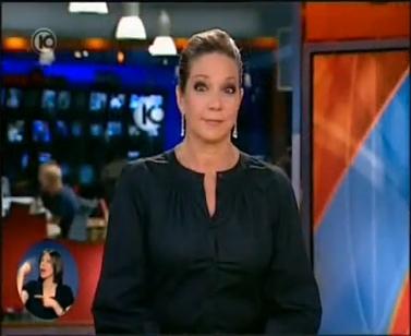 מגישת החדשות מיקי חיימוביץ' מגיבה לכתבה בחדשות 10 על ההילולה בנתיבות (צילום מסך)