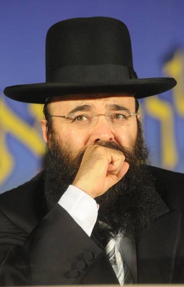הרב יעקב איפרגן מנתיבות, בשבוע שעבר בהילולה בנתיבות (צילום: פלאש 90)