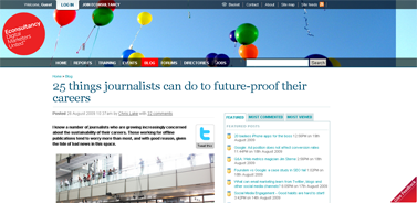 25 things journalists can do to future-proof their careers  Blog  Econsultancy