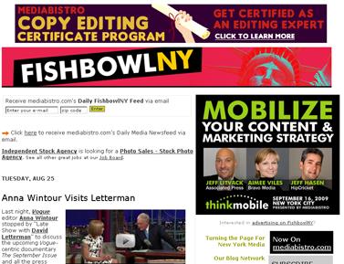 Anna Wintour Visits Letterman - mediabistro.com- FishbowlNY