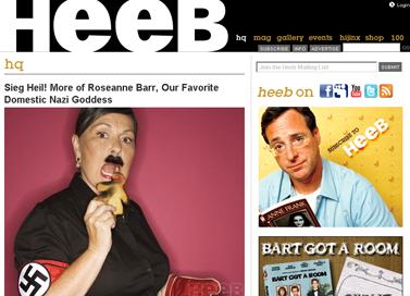Heeb- HQ - Sieg Heil! More of Roseanne Barr, Our Favorite Domestic Nazi Goddess