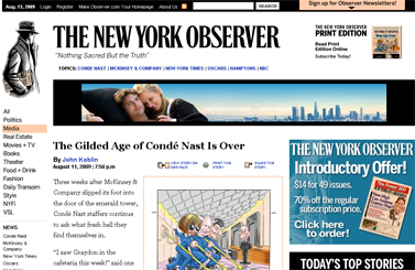 The Gilded Age of Conde Nast Is Over  The New York Observer