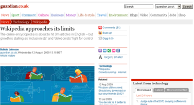 Wikipedia enters a new chapter  Technology  The Guardian