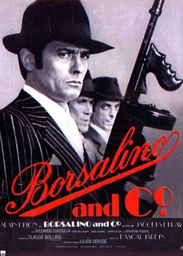 """כרזת הסרט """"בורסלינו"""", בכיכובו של אלן דלון"""