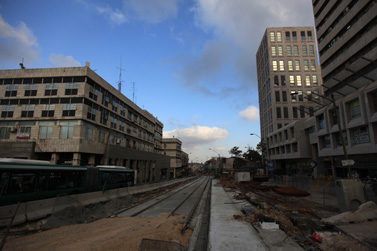 רחוב יפו בירושלים, מאי 2009 (צילום: קובי גדעון)