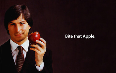"""Bite that Apple"" (עיבוד תמונה: sigalako, רשיון cc-by-nc)"