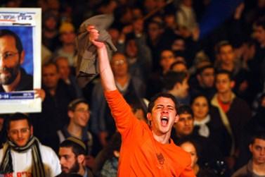 הפגנת הימין נגד הקפאת ההתנחלויות, אתמול בירושלים (צילום: אביר סולטן)