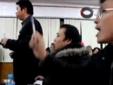 מסיבת העיתונאים בפוגונג (צילומים: מתוך הסרטון)