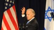 """סגן נשיא ארה""""ב ג'ו ביידן נואם, שלשום באוניברסיטת תל-אביב (צילום: גיל יערי)"""