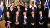 ראשי המפלגות, לפני טקס השבעת הכנסת ה-18. 24.2.09 (צילום: יוסי זמיר)