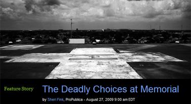 """""""ברירת המוות בממוריאל"""" (צילום מסך מהאתר """"פרופובליקה"""")"""