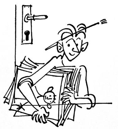 """דיוקן עצמי של שמוליק כץ, מתוך ספרו """"מעיר ומכפר"""". 1956, הוצאת העיתון """"על המשמר"""""""