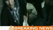 סרטון של תקיפת חיל הים באחת הספינות שהשתתפו במשט לעזה, בשידור בערוץ אל-ג'זירה (צילום מסך)
