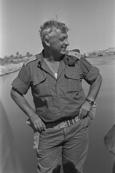 """האלוף אריאל שרון. 1973 (צילום: לע""""מ)"""