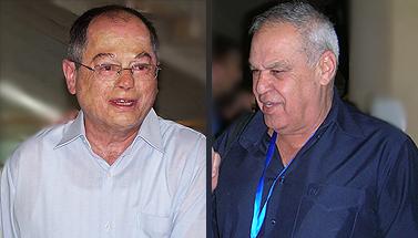 """רוני דניאל (מימין) ואמנון אברמוביץ' (צילום: """"העין השביעית"""")"""