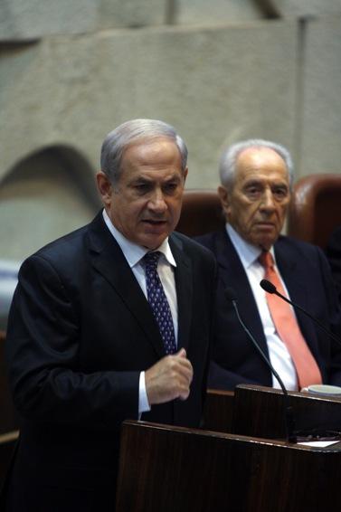 בנימין נתניהו, ראש ממשלת ישראל, נואם בכנסת, אתמול (צילום: ליאור מזרחי)