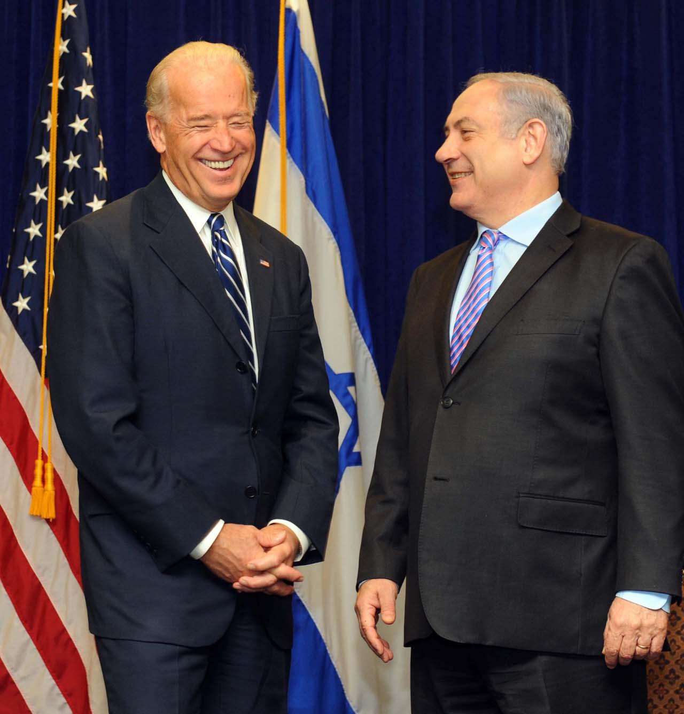 """ראש הממשלה בנימין נתניהו וסגן נשיא ארה""""ב ג'ו ביידן, אתמול בניו-אורלינס, ארה""""ב (צילום: אבי אוחיון, לע""""מ)"""