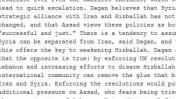 פרט מתוך מברק המתאר פגישה של פקיד אמריקאי עם ראש המוסד מאיר דגן, אחד ממאות אלפי מסמכים שנחשפו אתמול על-ידי אתר ויקיליקס ועיתוני העולם
