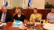 """משפחת נתניהו חוגגת יום הולדת לראש הממשלה, 21.10.10 (צילום: אבי אוחיון, לע""""מ)"""