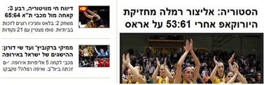 היסטוריה. אתר ערוץ הספורט
