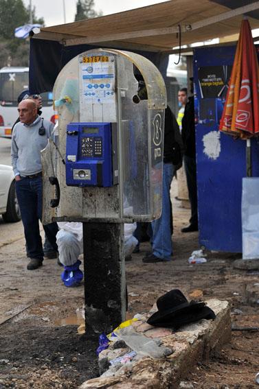 זירת הפיגוע בירושלים, אתמול (צילום: יואב ארי דודקביץ')