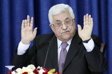 """יו""""ר הרשות הפלסטינית מחמוד עבאס (אבו-מאזן), אתמול ברמאללה (צילום: אורן נחשון)"""