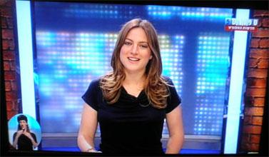 """מאיה רונן מגישה את """"חדשות הספורט"""" בערוץ הספורט"""