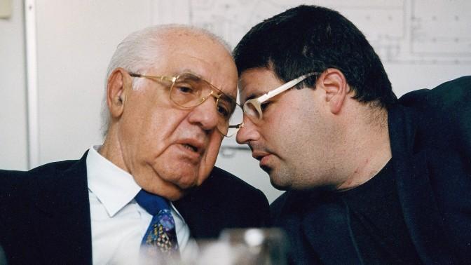 רן רהב ויולי עופר, 1997 (צילום ארכיון: משה שי)
