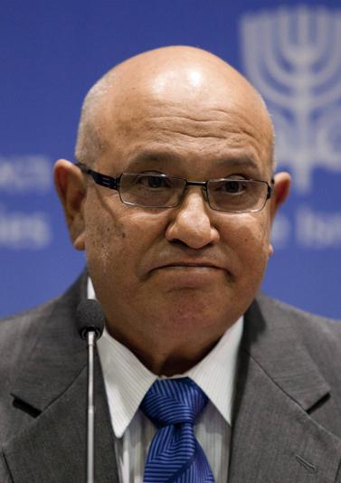 ראש המוסד לשעבר מאיר דגן נואם בירושלים, אפריל 2011 (צילום: דוד ועקנין)