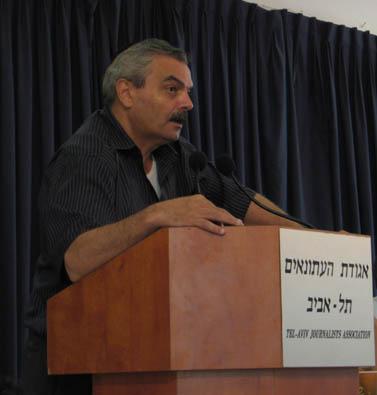 """מנכ""""ל אגודת העיתונאים תל-אביב, יוסי בר-מוחא (צילום: """"העין השביעית"""")"""