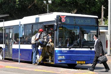 אוטובוס, אתמול בתל-אביב (צילום: יוסי זליגר)