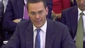 ג'יימס מרדוק מופיע בפני הפרלמנט, 19.7.11